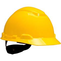 3M H700 Series Ratchet Suspension Hard Hat - Comfortable, Lightweight, Adjustable Ratchet, Adjustable Height - Head, Ultraviolet Protection - Yellow - 1 Each