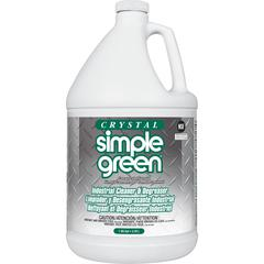 Simple Green Crystal Industrial Cleaner/Degreaser - Concentrate Liquid - 1 gal (128 fl oz) - Bottle - 1 Each - Clear