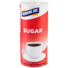 Genuine Joe 20 oz. Sugar Canister - Canister - 1.2 lb (20 oz) - Natural Sweetener - 24/Carton