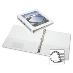 "SKILCRAFT Frame View Binders - White, 1-1/2"" - 1 1/2"" Binder Capacity - Letter - 8 1/2"" x 11"" Sheet Size - 3 x D-Ring Fastener(s) - Internal Pocket(s) - White - Recycled - 1 Each"