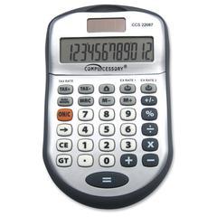 Simple Calculator - 12 Digits - Dark Gray - 1 Each