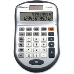 Simple Calculator - 2 Line(s) - 12 Digits - Dark Gray - 1 Each