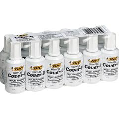 Wite-Out Cover-it Correction Fluid - Foam Wedge Applicator - 0.68 fl oz - White - Fast-drying - 1 Dozen
