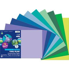 """Tru-Ray Construction Paper - Project, Bulletin Board - 18"""" x 12"""" - 1 Pack - Cool Assorted - Paper"""