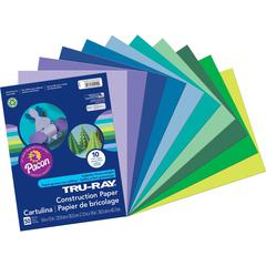 "Tru-Ray Construction Paper - Project, Bulletin Board - 9"" x 12"" - 50 / Pack - Assorted - Paper"
