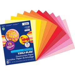 """Tru-Ray Construction Paper - Project, Bulletin Board - 9"""" x 12"""" - 50 / Pack - Assorted - Paper"""