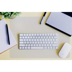 "Desktex Anti-slip Polycarbonate Desk Pad - Rectangle - 22"" Width x 17"" Depth - Polycarbonate - Polycarbonate - Crystal Clear"