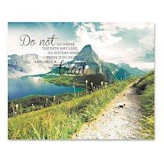 "Advantus Leave A Trail Motivational Canvas Print - 28"" Width x 22"" Height - Assorted"