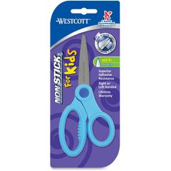 "Westcott Pointed Tip Nonstick Kids Scissors - 5"" Overall Length - Left/Right - Titanium - Pointed Tip - Assorted - 1 Each"