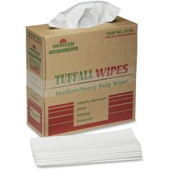 "SKILCRAFT Tuffall Wipes Medium/Heavy Duty Wiper - Wipe - 9.75"" Width x 16.75"" Length - 100 / Box - White"
