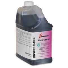 SKILCRAFT Enviro Care Glass Cleaner - Liquid Solution - 1 gal (128 fl oz) - Floral ScentBottle - 4 / Carton - Green
