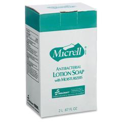 SKILCRAFT MICRELL Antibctrl Dispenser Soap Refill - 67.6 fl oz (2 L) - Kill Germs - Hand - White - Anti-bacterial, Moisturizing, pH Balanced - 4 / Carton