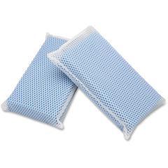 "SKILCRAFT All-Purpose Mesh Scrubbers - 5"" x 3-1/2"" x 1-1/4"", Blue - 24/Box - Nylon - Blue"