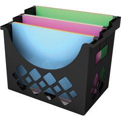 "Deflect-o Desktop Hanging File Holder - 9.6"" Height x 13.3"" Width x 8.5"" Depth - Desktop - Recycled - Black - 1Each"