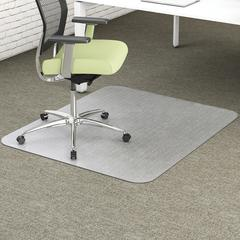 "Deflect-o EnvironMat Recycled Chairmat - Carpet - 53"" Length x 45"" Width - Rectangle - Textured - Polyethylene Terephthalate (PET) - Clear"