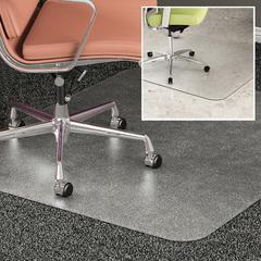 "Deflect-o DuoMat Carpet/Hard Floor Chairmat - Carpet, Hard Floor - 60"" Length x 46"" Width - Rectangle - Classic - Clear"