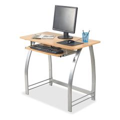 """Lorell Maple Laminate Computer Desk - Rectangle Top - 36.20"""" Table Top Width x 19"""" Table Top Depth - 30"""" Height - Maple"""