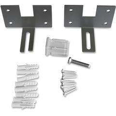 """Lorell Panel Wall Brackets - 2.5"""" Width x 3.8"""" Depth x 2.5"""" Height - Aluminum - Aluminum"""