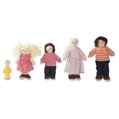 "Childrens Factory Pose n Play White Family Doll Set - 5.50"" - White"