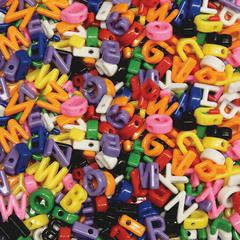 ChenilleKraft Upper Case Letter Beads - Art Project, Fun and Learning, Jewelry - 288 Piece(s) - 288 / Pack - Assorted