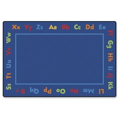 "Carpets for Kids Value Line Alphabet Rug - 108"" Length x 72"" Width - Rectangle"