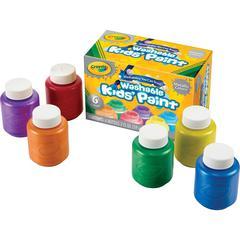 Crayola Metallic Colors Washable Kids Paint - 2 oz - 6 / Set - Red, Yellow, Blue, Green, Purple, Orange