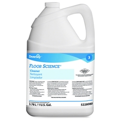 Diversey Floor Science Cleaner - Liquid Solution - 1 gal (128 fl oz) - 1 Each - Blue