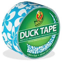 "Duck Blue Surf Color Duct Tape - 1.88"" Width x 30 ft Length - Easy Tear, Flexible - 1 / Roll"