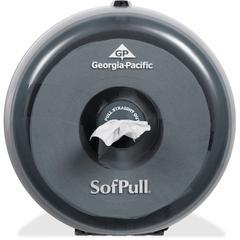 SofPull Mini Tissue Dispenser - Center Pull - Smoke - Durable, Lockable, Sturdy
