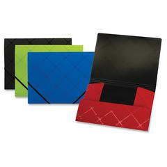 "1-1/2"" Expansion Poly Folder - Letter - 8 1/2"" x 11"" Sheet Size - 275 Sheet Capacity - 1 1/2"" Expansion - 1 Pocket(s) - Poly - Assorted - 1 Each"