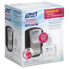 LTX-7 Sanitizer Dispenser Starter Kit - Automatic - 23.7 fl oz (700 mL) - Chrome Black