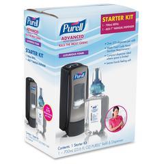 Purell ADX-7 Sanitizer Dispenser Starter Kit - Manual - 23.7 fl oz (700 mL) - Chrome Black