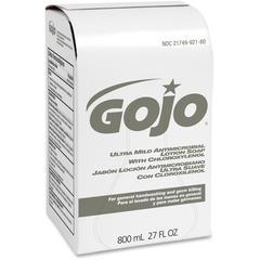 800 ml Bag Refill Antibacterial Lotion Soap - 27.1 fl oz (800 mL) - Hand - White - Antimicrobial - 1 Each