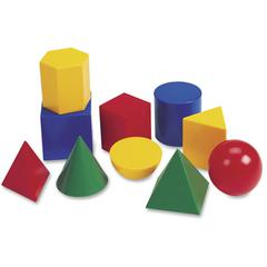 "Learning Resources Large 3"" Geometric Shapes Set - Theme/Subject: Learning - Skill Learning: Geometry, Shape - 10 Pieces - 5+"