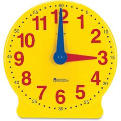 Learning Clock, 12-Hour Demonstration Clock - Theme/Subject: Learning - Skill Learning: Cognitive Process, Fine Motor, Self Awareness, Social Development, Time