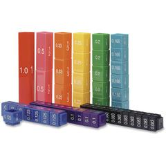 Learning Resources Fraction Tower Cubes Set - Theme/Subject: Learning - Skill Learning: Decimal, Fraction, Color, Mathematics - 51 Pieces - 6+