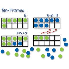 Learning Resources Giant Magnetic Ten-frame Set - Theme/Subject: Learning - Skill Learning: Visual, Addition, Subtraction, Number, Operation, Counting, Algebra, Cardinality - 5+