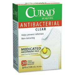 Antibacterial Clear Bandages - 30/Box - Clear