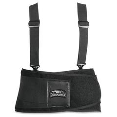 OccuNomix Classic Universal Back/Abs Support - Comfortable, Hook & Loop Closure - Black
