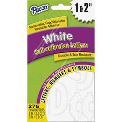 Pacon Reusable Self-Adhesive Letters - (Uppercase Letters, Punctuation Marks, Number) Shape - Self-adhesive - Reusable, Durable, Removable, Acid-free, Tear Resistant, Repositionable, Fade Resistant -