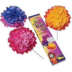 """KolorFast Tissue Flower Kit - Decoration - 10"""" - 1 Each - Assorted"""