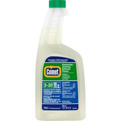 Comet Disinfecting Bthrm Cleaner - Liquid - 0.25 gal (32 fl oz) - Citrus Scent - 8 / Bottle - 1 Each - White