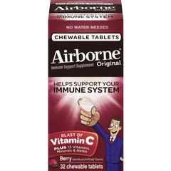 Airborne Immune Support Tablets - Berry - 32 / Bottle