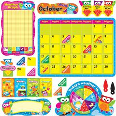 Trend Owl-Stars Calendar Bulletin Board Set - 33 Numbers - Assorted - 1 Set