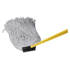 Wilen Professional Cut-end Cotton Mop - Plastic Head - Cut Ends, Fray Resistant, Break Resistant, Lint Resistant - 1 Each - Black, White