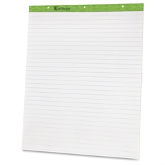 """TOPS Earthwise Evidence Recycled Easel Pad - 50 Sheets 27"""" x 34"""" - 2 / Carton - White Paper"""