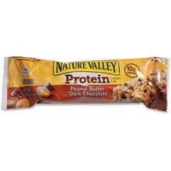 NATURE VALLEY Peanut Butter Protein Bar - Peanut Butter, Dark Chocolate - 16 / Box