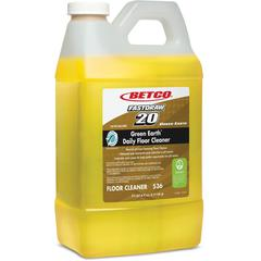 Green Earth Concentrated Daily Floor Cleaner - 0.53 gal (67.63 fl oz) - Bottle - 4 / Carton - Yellow