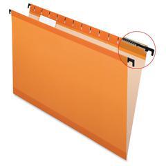 "SureHook Tech. Hanging Folders - Legal - 8 1/2"" x 14"" Sheet Size - 1/5 Tab Cut - Polylaminate - Orange - 20 / Box"