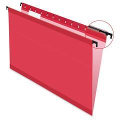 "Pendaflex SureHook Tech. Hanging Folders - Legal - 8 1/2"" x 14"" Sheet Size - 1/5 Tab Cut - Polylaminate - Red - 20 / Box"